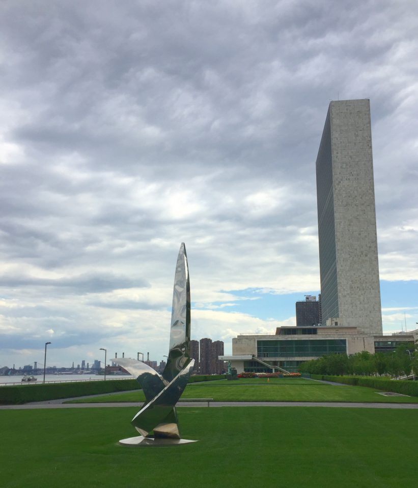 View on the United Nations Building in New York